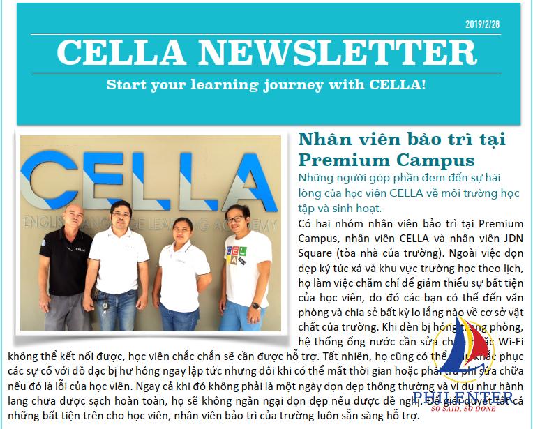 Bản tin trường Anh ngữ CELLA tháng 02 năm 2019