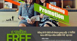 Chương trình khuyến mại đặc biệt từ BECI chào mừng chi nhánh thứ 3 tại Việt Nam