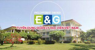 Trường Anh ngữ E&G tuyển dụng quản lý học viên Việt Nam