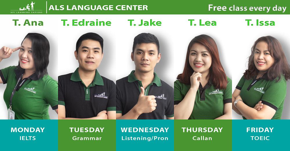 Lớp học miễn phí suốt tuần với giáo viên Philippines