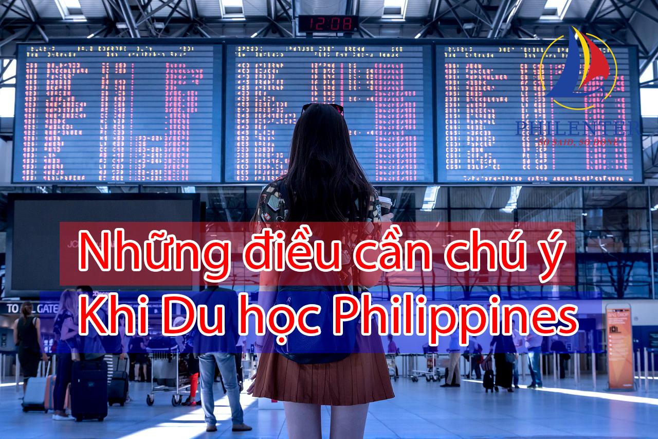 Lưu ý du học philippines