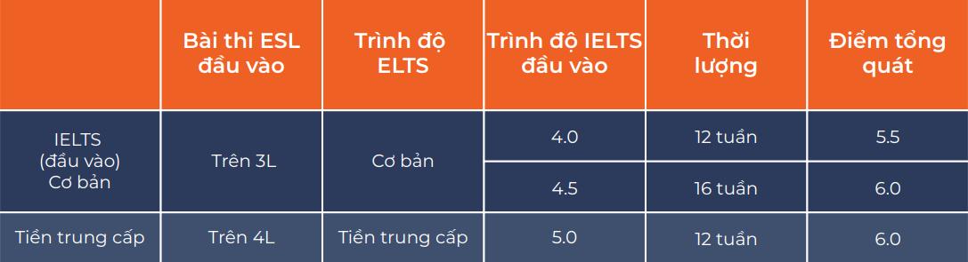 Kế hoạch chương trình IELTS Guarantee (Khóa IELTS đảm bảo)