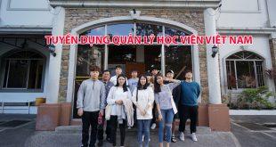 Trường Anh ngữ TALK thông báo tuyển quản lý sinh viên Việt Nam